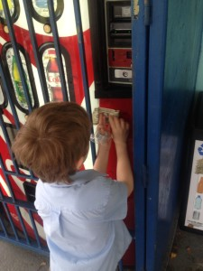 Taping Money to vending machine