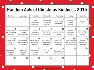 2015 Kindness Advent Kids